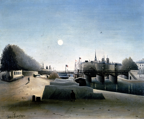Henri ROUSSEAU(1844-1910), 'View of the Cité Island taken from the Port Saint-Nicolas (Evening)', 'Vue de l'Ile Cite*, Prise du Port Saint-Nicolas, le Soir', 1887-88